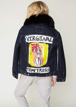 """Virginal Temptress"" Unisex Denim Jacket"