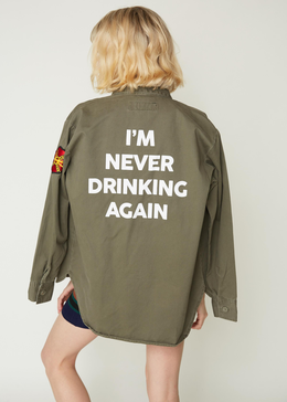 Never Drinking Army Jacket