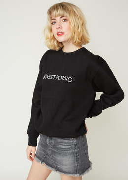EMBROIDERED SWEET POTATO CREW  SWEATSHIRT View 2