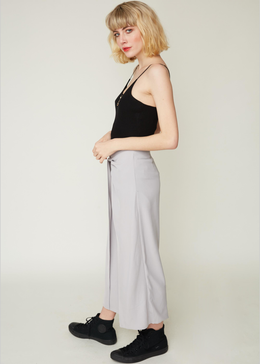 Twisted Hakama Culottes in Dove Grey View 2