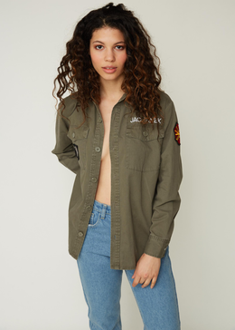 Bad Influence Army Jacket View 2