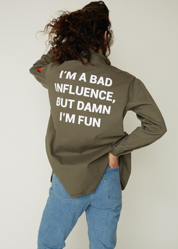 Bad Influence Army Jacket