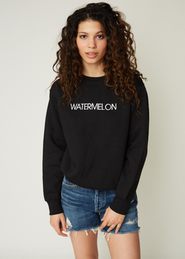 EMBROIDERED WATERMELON CREW SWEATSHIRT