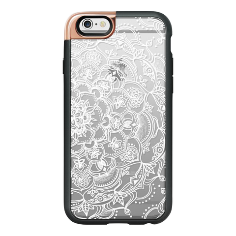 iPhone 6/6S Case in White Lace Mandala