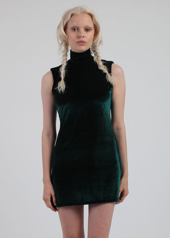 Velvet Green Mod Dress