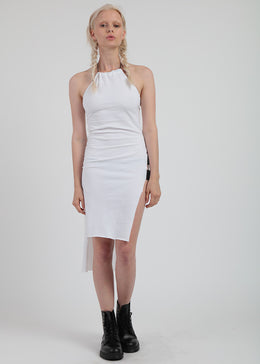 Tether Dress In White