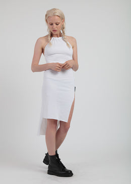 Tether Dress In White View 2