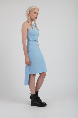 Teather Dress in Blatantly Blue View 2