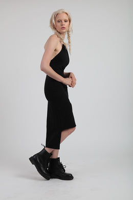 Tether Dress In Black View 2