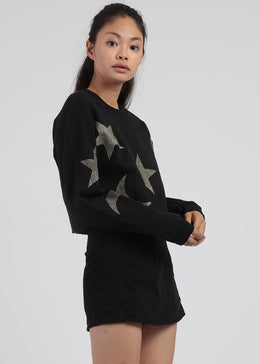 Cropped Moon and Star Sweater View 2