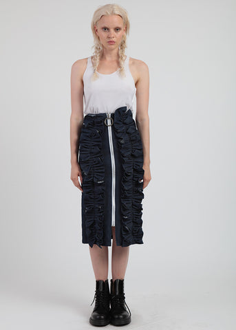 Double Ruffle Trim Skirt