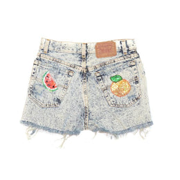 Citrus Queen Denim Shorts View 2
