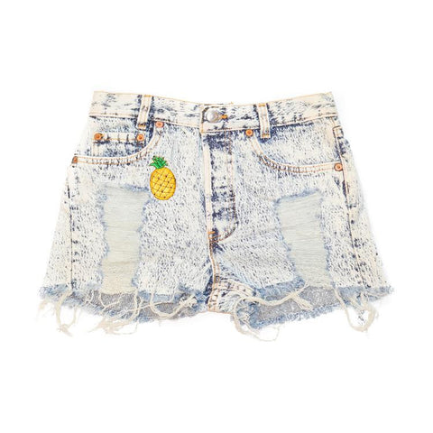 Citrus Queen Denim Shorts