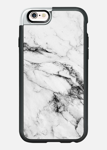iPhone 6/6S Case in Black and White Marble