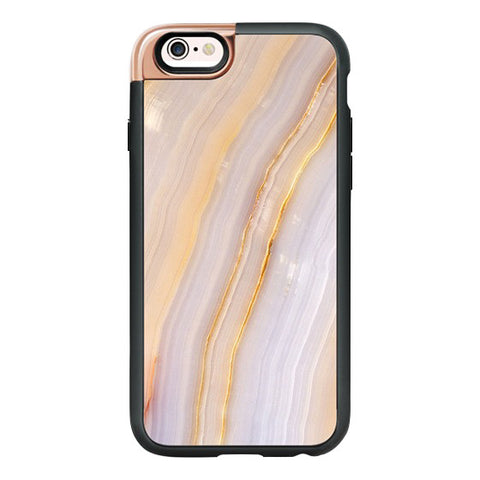 Purple and Gold Stripe Marble iPhone 6/6S Case