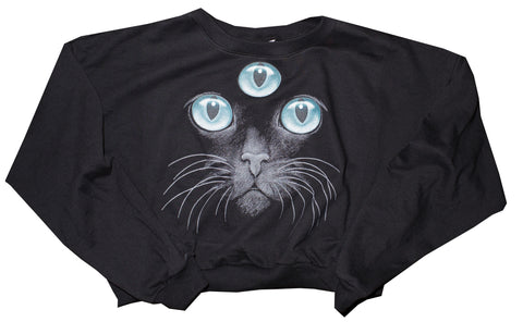 3rd Eye Cat Cropped Sweater