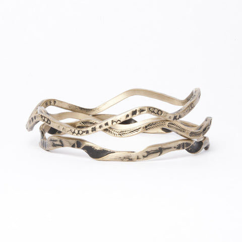 Brass 3 Bangle Stack