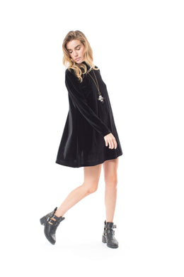 Farewall Long Sleeve Mini Black Dress View 2