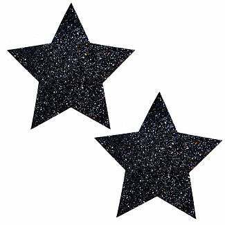Black Malice Glitter Star Pasties