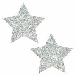 Pixie Dust Silver Glitter Star Pasties