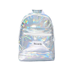 Have A Nice Trip Backpack in Silver Metallic