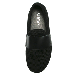 Barton Slip On in Black On White View 2