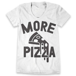 More Pizza T-shirt - White