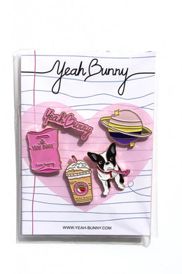 Pins Yeah Bunny - 5 piece set - Frenchie / ONE SIZE