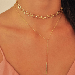 VIOLET LARIAT Necklace