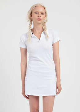 Tabbi Polo Dress in White