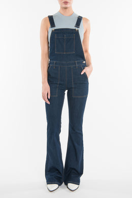 Denim Flare Overalls View 2
