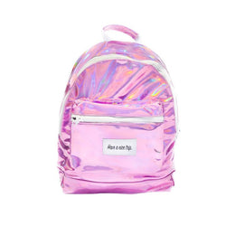 Have A Nice Trip Backpack in Pink Metallic