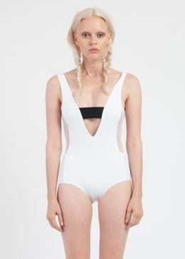 Axis One Piece in White View 2