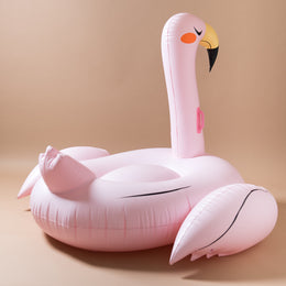 Oversize Flamingo Pink Pool Float View 2