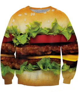 Burger Crewneck Sweatshirt