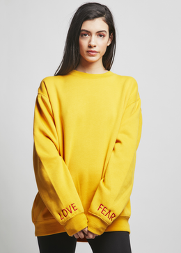 Love vs. Fear Sweatshirt in Yellow