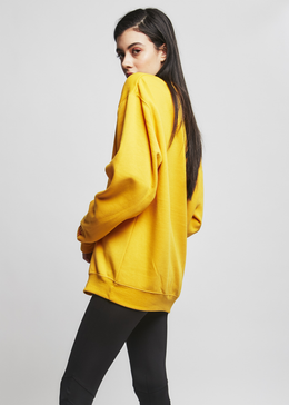 Love vs. Fear Sweatshirt in Yellow View 2