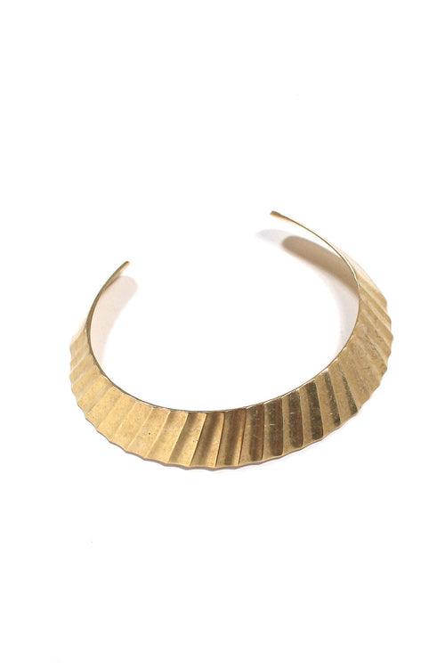Heavy Metal Ribbed Choker Cuff