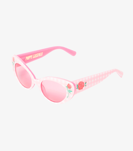 Barbara Sunglasses In Pink Gingham View 2