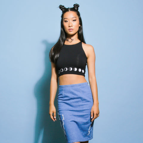 Moon Phase Crop Top