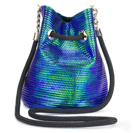 Iridescent Blue-Green Bucket Bag View 2