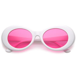 Retro 90's Fashion Oval Round Pantone Lens Sunglasses