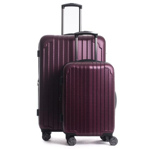 Lomita 2-Piece Luggage Set in Dark Red