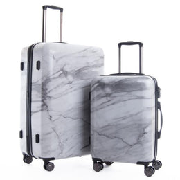 Astyll 2-Piece Luggage Set in Milk Marble View 2