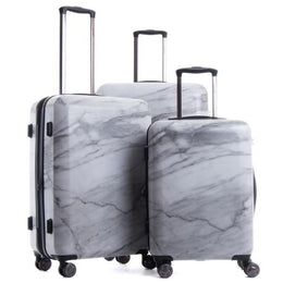 Astyll 3-Piece Luggage Set in Milk Marble View 2