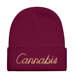 Cannabis Beanie in Red