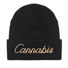 Cannabis Beanie in Black