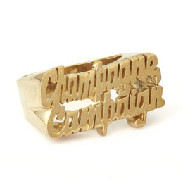 Champagne Campaign Ring in Gold