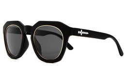 The No Wave Sunglasses in Gold Wire View 2
