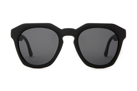 The No Wave-Flat Black Sunglasses